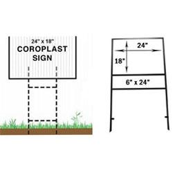 Yard Sign Frames
